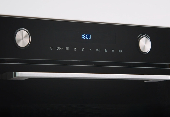 Pelgrim oven bediening push-turn knoppen