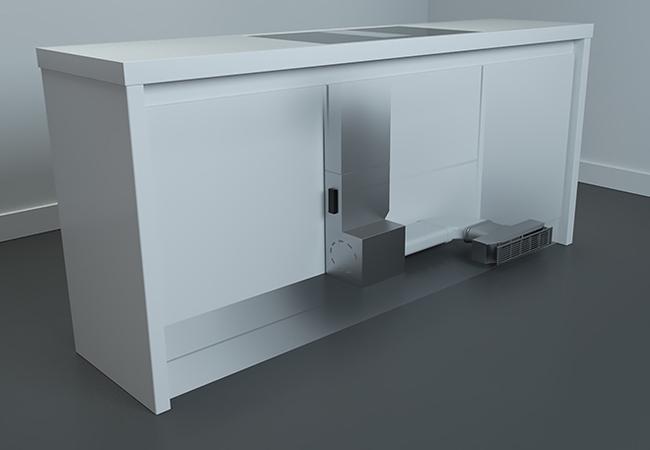 IKR2083 inductie met afzuiging installatie